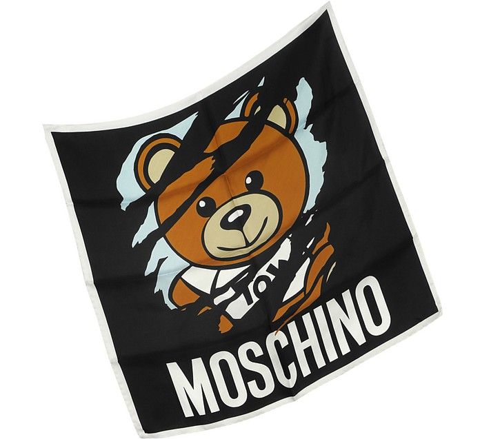 Teddy Bear Silk Bandana - Moschino