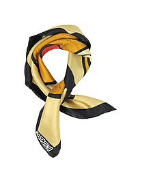 Teddy Printed Silk Bandana - Moschino