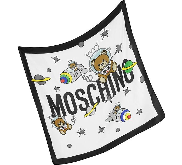 Space Teddy Crepe Silk Bandana - Moschino