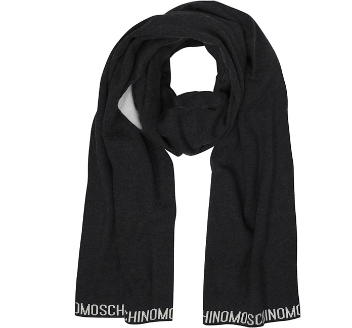 Two Tone Signature Wool Scarf - Moschino