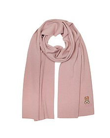 Moschino Teddy Bear Solid Wool Long Scarf - Moschino