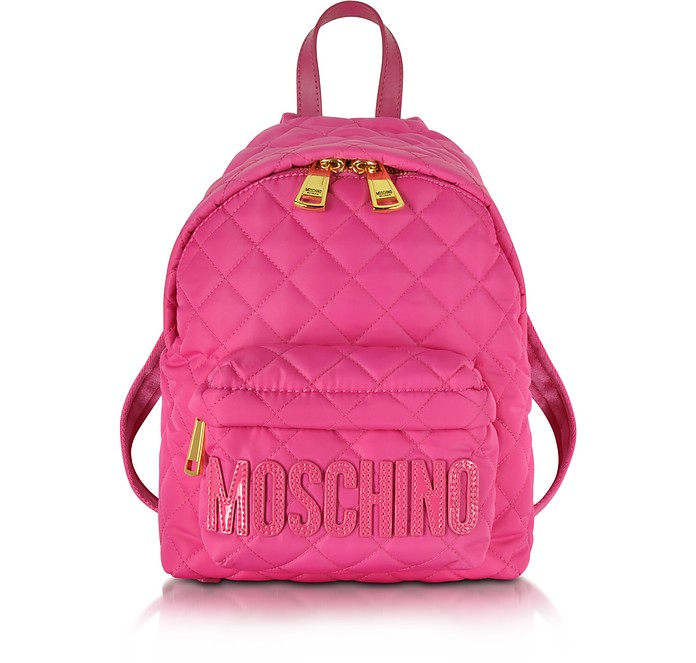 Quilted Fabric Backpack - Moschino