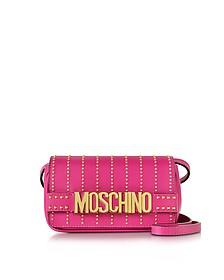 紫红色皮革斜挎包配铆钉 - Moschino 摩斯基诺