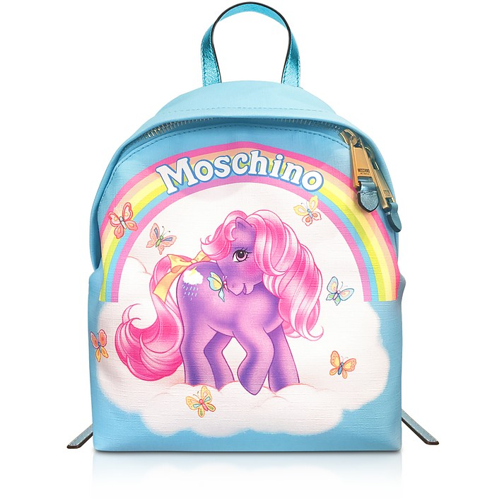My Little Pony Light Blue Backpack - Moschino