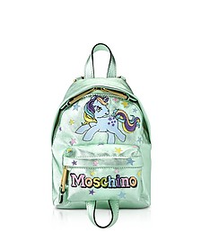 My Little Pony Laminated Leather Backpack - Moschino