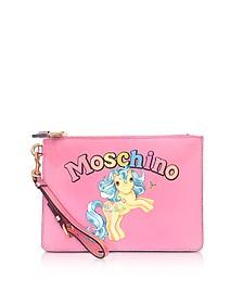 My Little Pony Pink Clutch w/Wristlet - Moschino