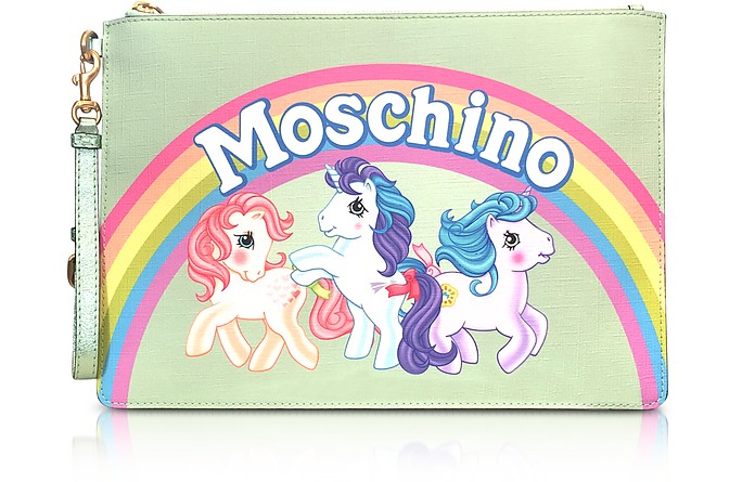 My Little Pony Aqua Clutch w/Wristlet - Moschino