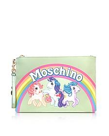 My Little Pony Aqua Clutch w/Wristlet - Moschino