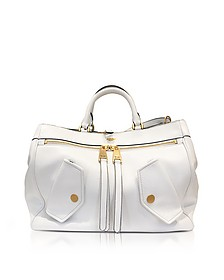 White Leather Shoulder Bag - Moschino