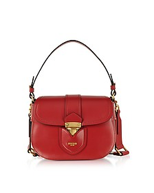 Red Leather Crossbody Bag - Moschino