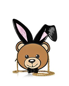 Eco Leather Teddy Playboy Shoulder Bag - Moschino