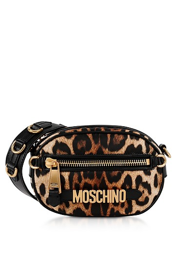 Animal Printed Nylon Crossbody Bag - Moschino