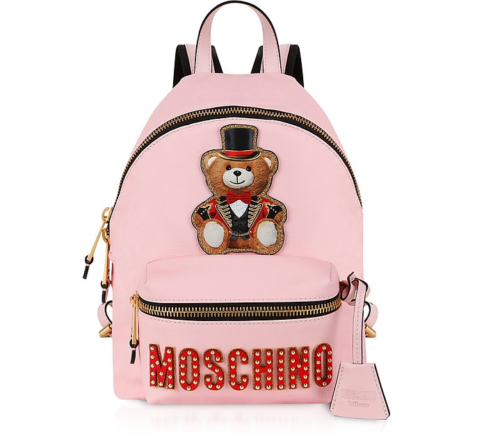Teddy Bear Circus Patch Pink Backpack - Moschino