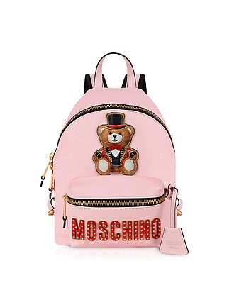 e1aa97eb8de Teddy Bear Circus Patch Pink Backpack - Moschino