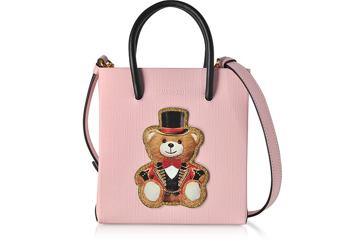 Teddy Bear Circus - Mini Cabas en Cuir - Moschino
