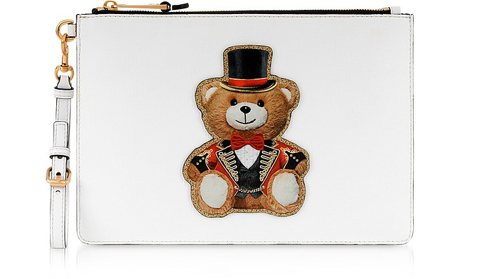 Teddy Circus Clutch - Moschino