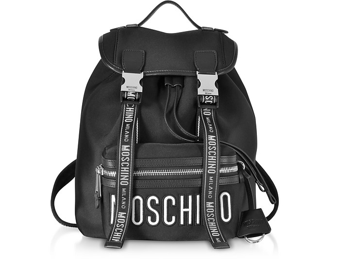 Black Signature Backpack - Moschino