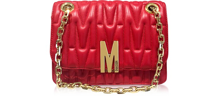 Quilted Leather Shoulder Bag - Moschino