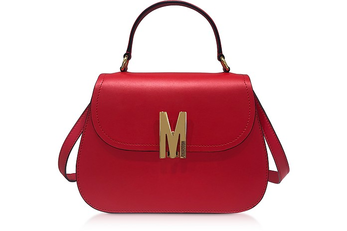 Smooth Leather Satchel Bag - Moschino