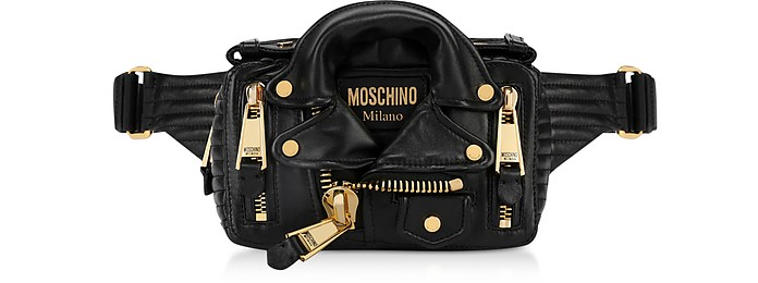 Black Biker Belt Bag - Moschino