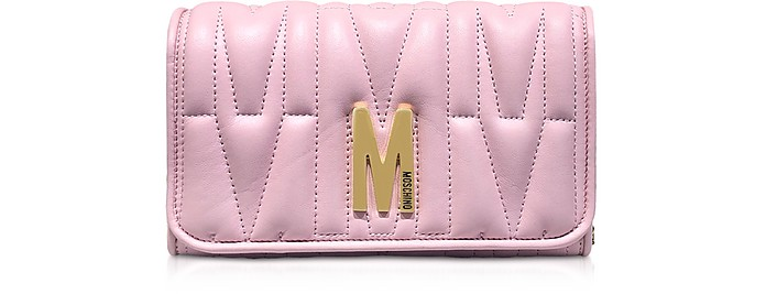 Quilted Leather Wallet Shoulder Bag - Moschino
