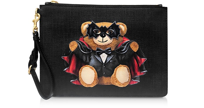 Black Spooky Teddy Bear Clutch - Moschino
