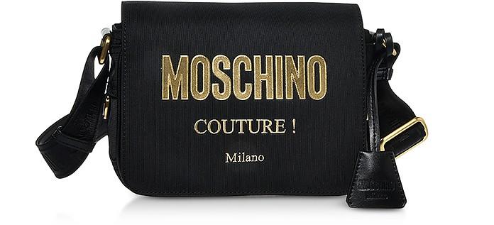 Black Nylon Couture Signature Shoulder Bag - Moschino