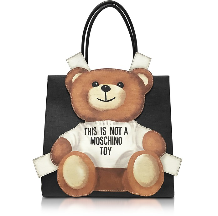 1cb96c4f1ec0 Moschino Teddy Bear Saffiano Leather Tote Bag at FORZIERI