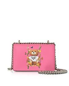 Teddy Bear Pink Eco Leather Crossbody Bag - Moschino