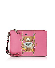 Teddy Bear Eco Leather Clutch - Moschino