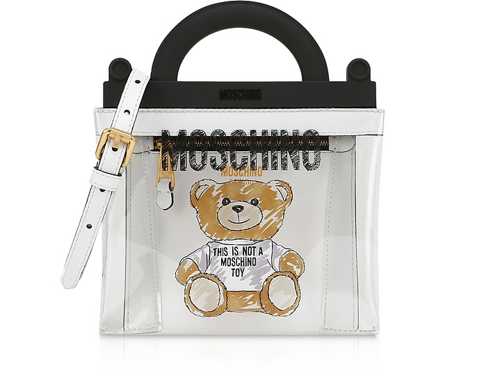 Transparent PVC Teddy Bear Tote Bag - Moschino