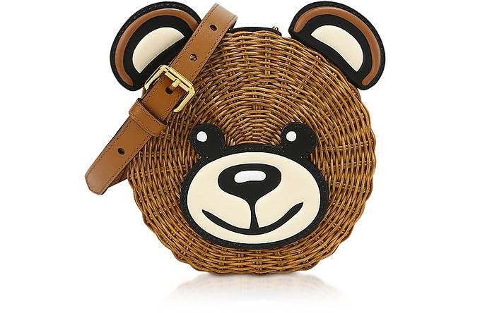 Teddy Bear Wicker Shoulder Bag - Moschino