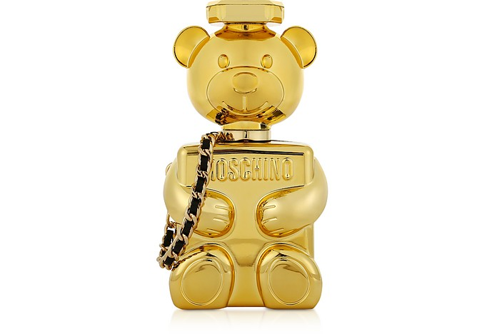 Golden Laminated Toy Bag - Moschino