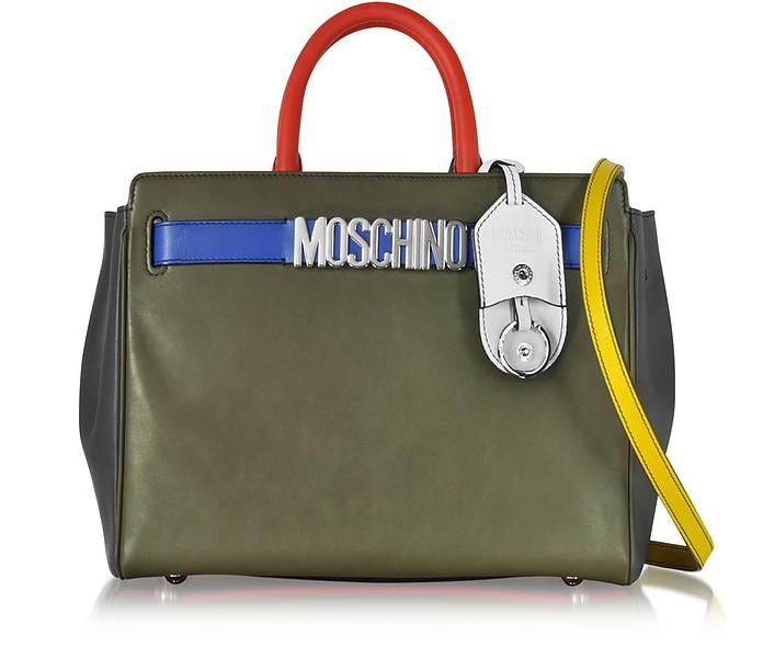 Multicolor Leather Tote - Moschino