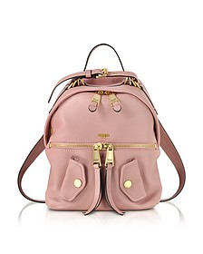 Pink Leather Backpack - Moschino