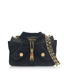 Black Nylon Bomber Jacket Shoulder Bag - Moschino