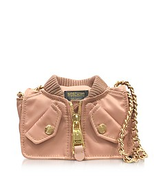 Pink Nylon Bomber Jacket Shoulder Bag - Moschino
