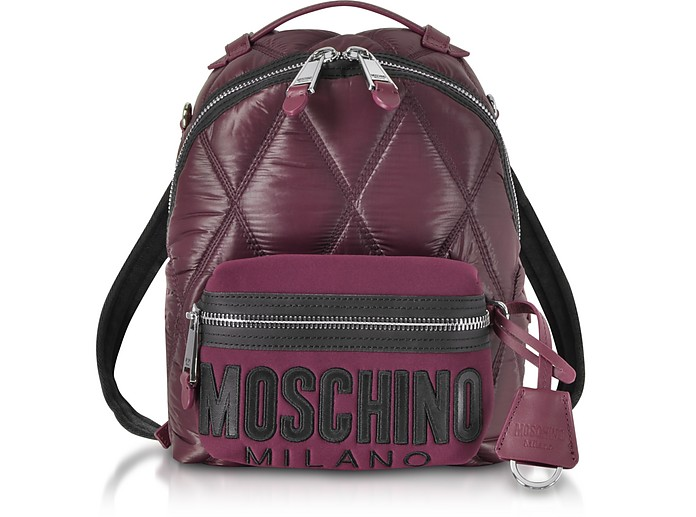 Quilted Nylon Signature Backpack - Moschino / モスキーノ