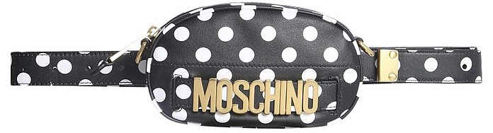 Polka Dot Pouch With Logo - Moschino / モスキーノ