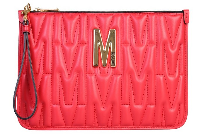 Pouch With Logo - Moschino / モスキーノ