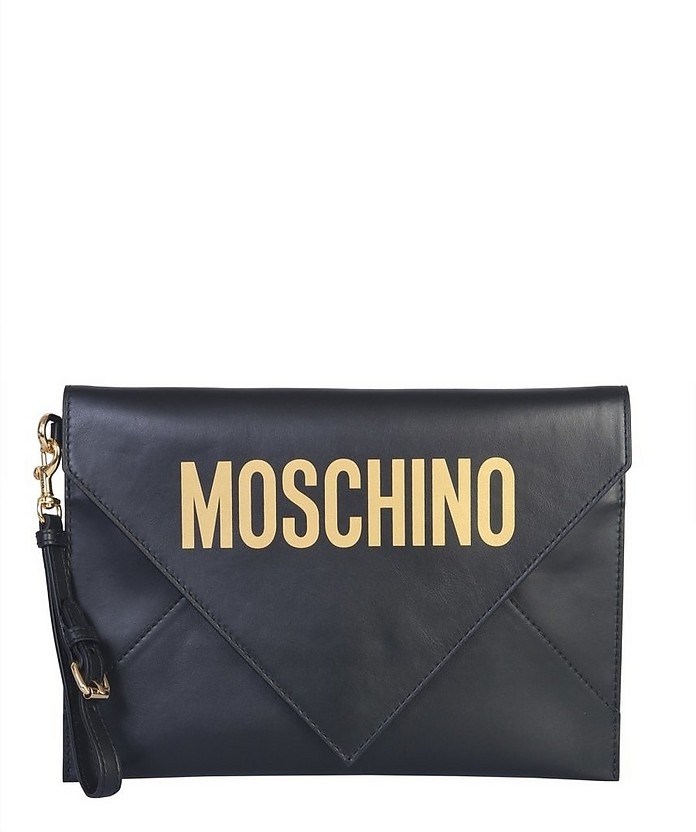 Pouch With Logo - Moschino