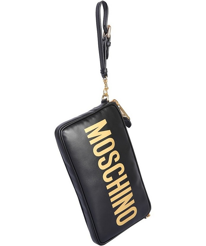 Shoulder Bag With Logo - Moschino