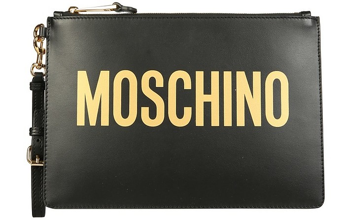 Pouch With Maxi Logo - Moschino