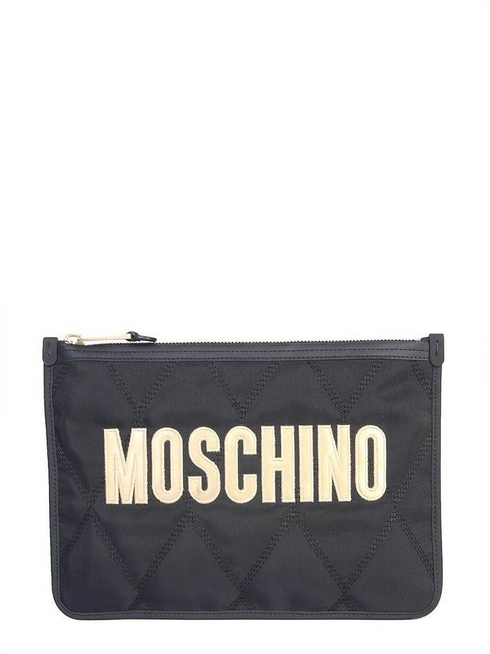 Clutch With Maxi Logo - Moschino