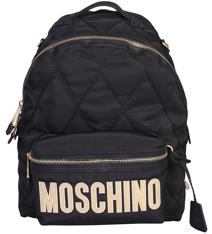 Backpack With Logo - Moschino