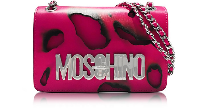 Pink Leather Shoulder Bag - Moschino