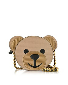 Nude Eco Leather Teddy Bear Shoulder Bag - Moschino