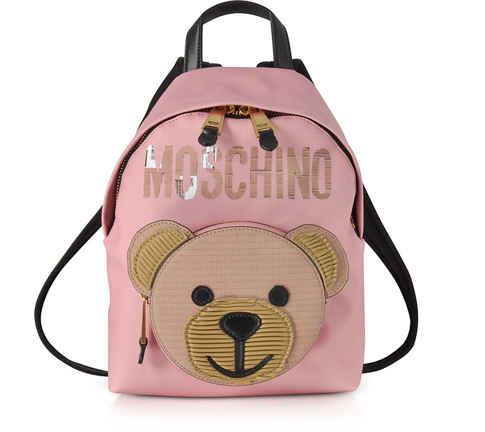 Pink Eco Leather Teddy Bear Backpack - Moschino