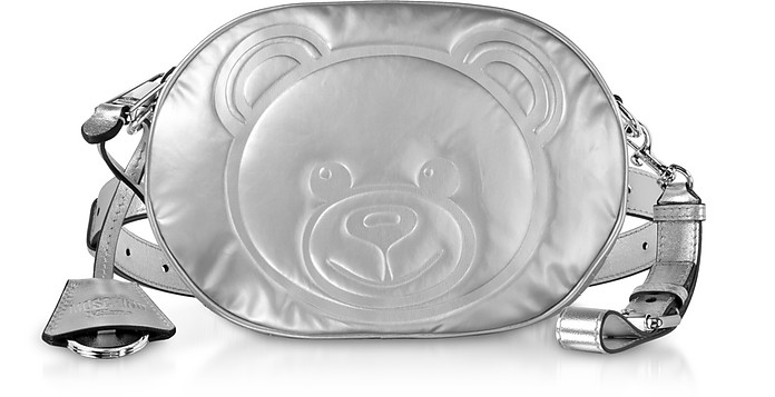 Teddy Bear Laminated Leather Belt Bag - Moschino
