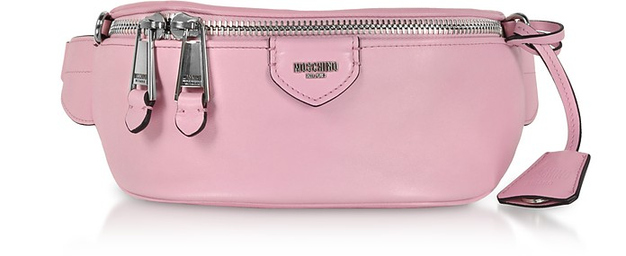 Candy Pink Leather Belt Bag - Moschino